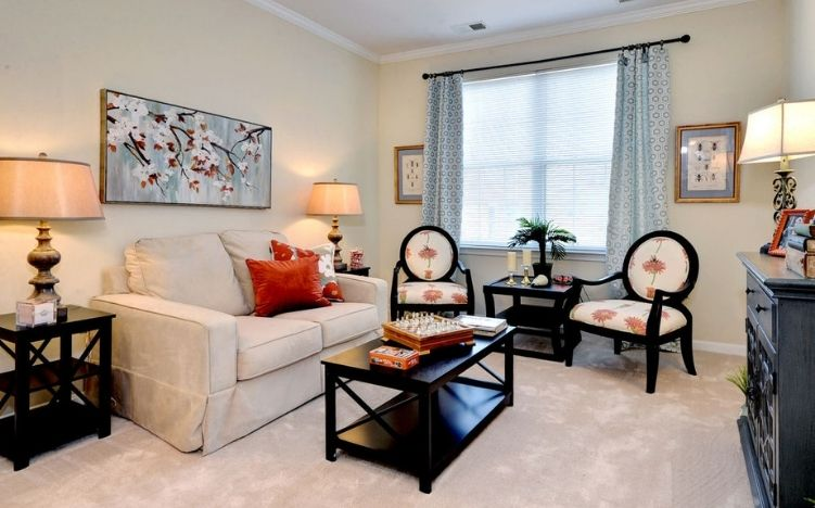 A typical living room of the Retirement Community Verena at the Reserve