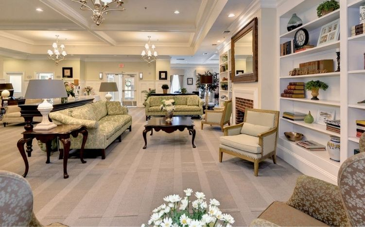 The lobby area of the Retirement Community Verena at the Reserve