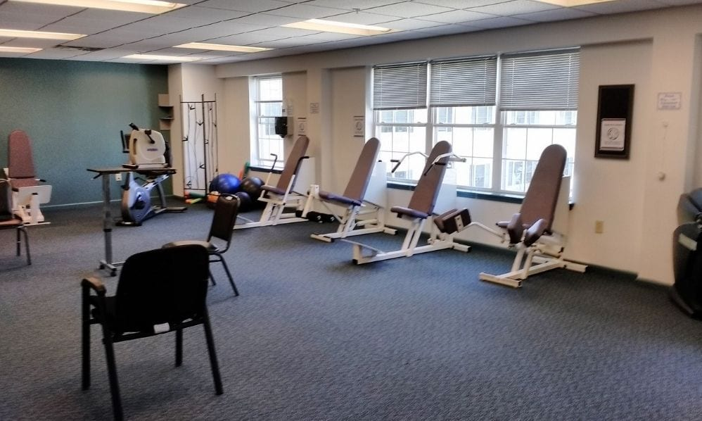 Gym and exercise facilities at the Senior Living Community Arbour Square of Harleysville, PA