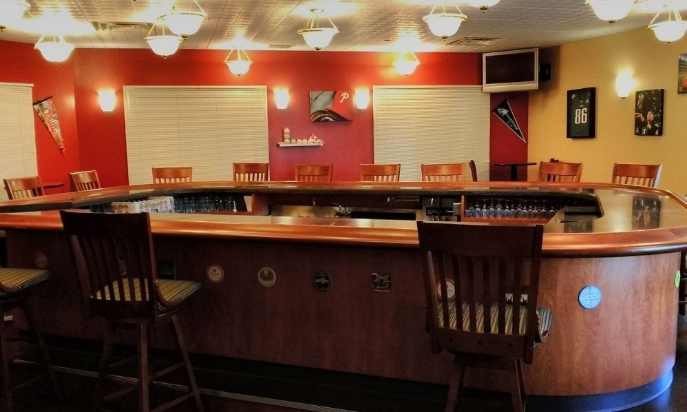 Bar area of the Senior Living Community Arbour Square of Harleysville, PA