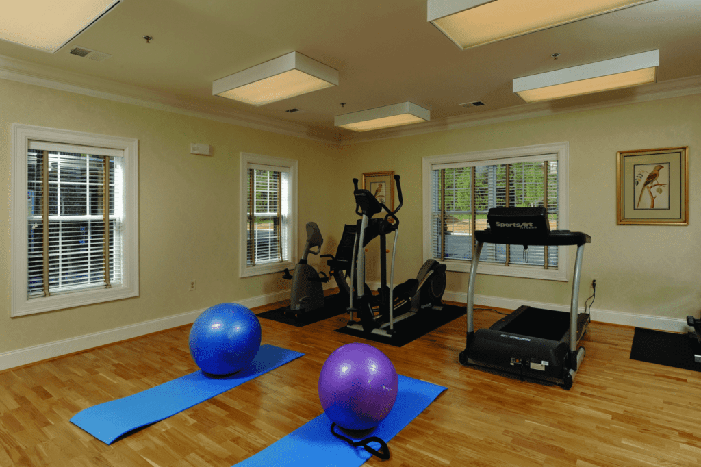 Gym and exercise facilities at the Senior Living Community Verena at the Glen, VA
