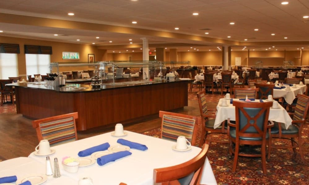Dining area of the Senior Living Community Arbour Square of Harleysville, PA