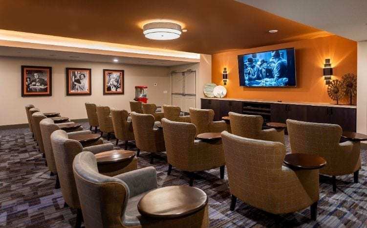 The movie theater at Verena at Gilbert, AZ Luxury Senior Living