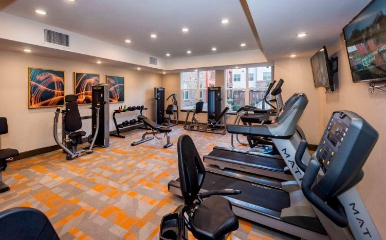 Gym and exercise facilities at the Senior Living Verena at Gilbert, AZ community