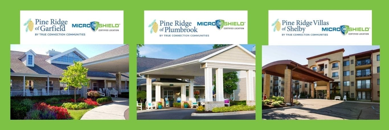 Pine Ridges of Garfield, Plumbrook, Shelby treated with MicroShield 360 antimicrobial coating