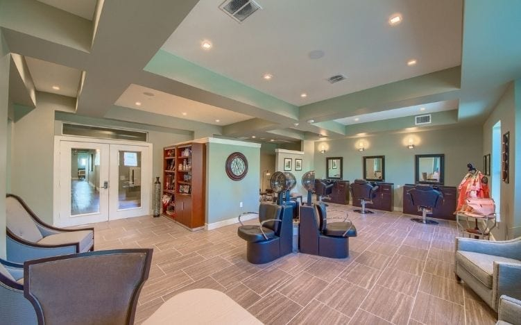 salon at skye luxury senior living retirement apartments in leander, texas