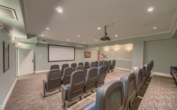 theatre at skye luxury senior living retirement apartments in leander, texas