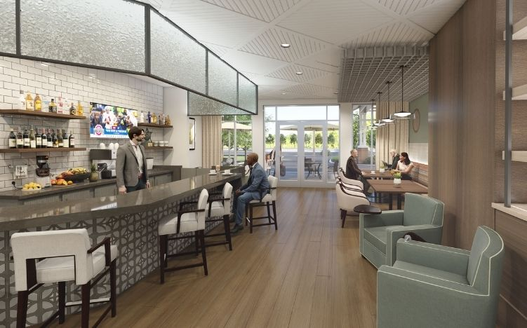 rendering of juice bar at verena at hilliard independent living community in hilliard, ohio