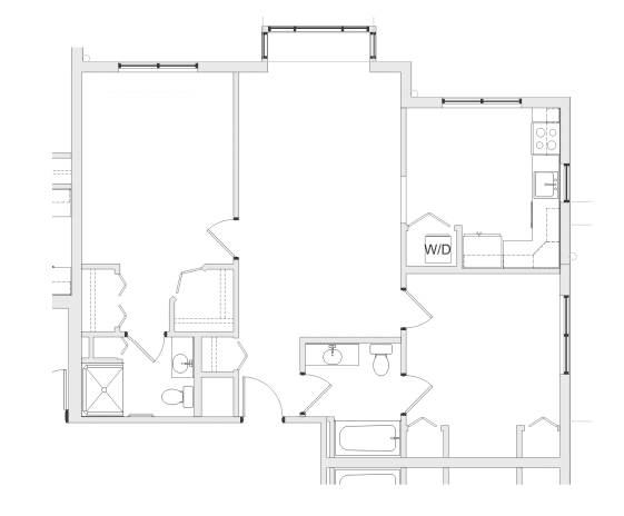 floor plan of independent living apartment at verena at hilliard in hilliard, ohio